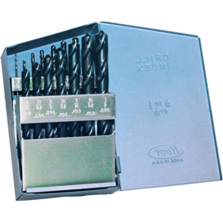 21-Piece Champion Cutting Tool 121CO 705C Cobalt General Purpose Gold Oxide Drill Set