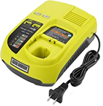 Yabelle Dual Chemistry Battery Charger P117 P118 for Ryobi 12V 18V One+ Plus NiCd NiMh Lithium Battery P100 P101 P102 P103 P105 P107 P108 P200 1400670