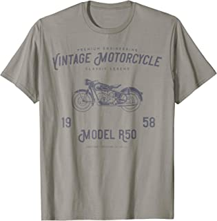 Retro Motorcycle T Shirt, Original Vintage Design