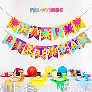 Slime Banner for Slime Birthday Party Baby Shower Painting Party Art Theme Party Decoration Supplies