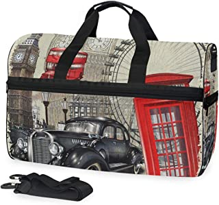 Duffle Bag Painting Hummingbirds Gym Bag with Shoe Compartment Sport Bag for Men Women