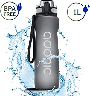 ADORIC Sport Trinkflasche, [BPA Frei Tritan] 500ML Auslaufsicher Kunststoff Wasserflasche Sport, Sportflasche Fahrrad für Camping Freien, Outdoor, Yoga, Gym