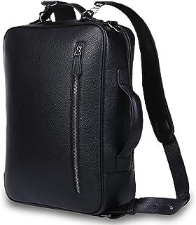 [シュバルノアール] 熟練の職人が手懸けた 3WAYビジネスバッグ リュックサック メンズ 本革 薄型 15.6インチ パソコン対応 通勤 通学 ビジネス 出張 旅行 【本革証明済】