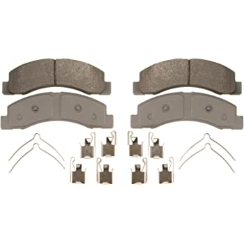 Wagner ThermoQuiet QC756 Ceramic Disc Pad Set With Installation Hardware Front