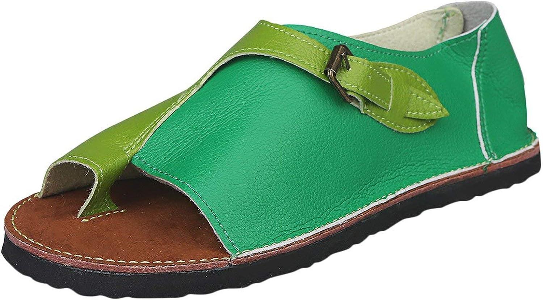 Mr Z Waroom Women Roman Style Soft Comfortable Leisure Flat Sandal Buckle Flat Beach Sandals Summer Slippers flip Flops