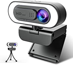 Sponsored Ad - Webcam with Microphone Ring Light-HD 1080P Web Cam with Privacy Cover&Tripod for Desktop/Laptop/PC/MAC,Web ...