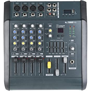 TC-Home 4 Channel Professional Powered Mixer power mixing Amplifier Amp 16DSP with USB Slot