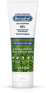 Benadryl Extra Strength Cooling Anti-Itch Gel, Diphenhydramine HCI Topical Analgesic, 3.5 Fl. Oz