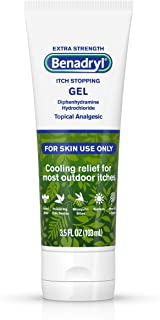 Benadryl Extra Strength Cooling Anti-Itch Gel, Diphenhydramine HCI Topical Analgesic, 3.5 Fl. Oz (Pack of 1)