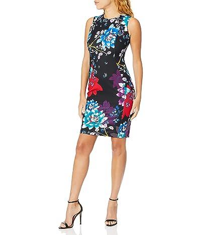 Calvin Klein Scuba Crepe Sleeveless Princess Seam Sheath Dress