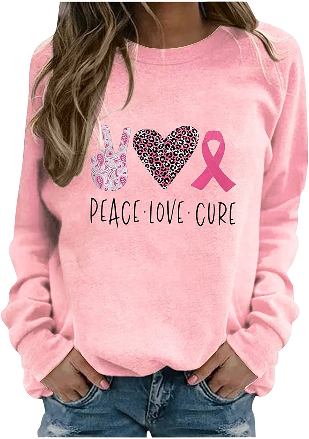 Winter Women's Casual Long Sleeve O-Neck Heart Printed Ladies None-Liner Sweatshirts Loose Fitting Comfy Tops Hoodies