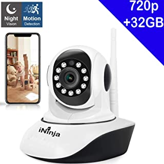 Baby Monitor Home WiFi Security Camera Sound/Motion Detection with Night Vision 2-Way Audio Monitor Baby/Elder/Pet