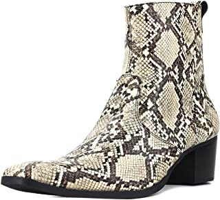 Suetar Mens Wild Snake and Crocodile Style Handmade Leather Cowboy Boots JY008