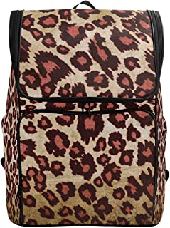 Canvas Backpack Cheetah Pattern Large Capacity School Daypack Bookbag Laptop Backpack