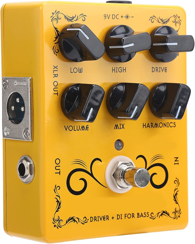 Pedal de efecto de distorsión, pedal de efecto de distorsión de guitarra de armónicos HF para guitarristas para amantes de la guitarra