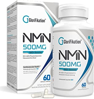 NMN Supplement   750mg Advanced NMN Contains All 7 Ingredients in 1 Capsule   NMN 500mg with 100mg Coenzyme Q10 to Support...