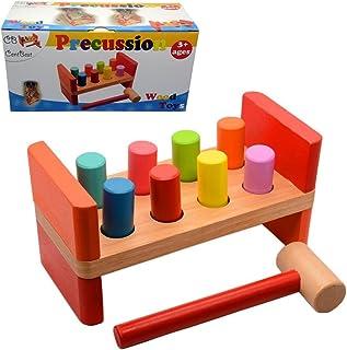 Modelos//colores Surtidos EverEarth 1 Unidad Banco de madera para golpear EE33730