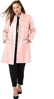 Women's Plus Size Leather Swing Coat