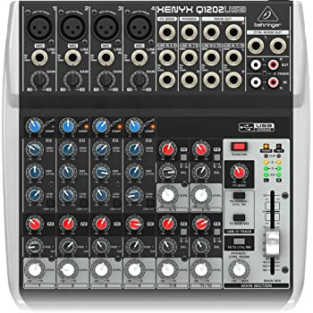 Behringer Q1202USB 12-Channel Mixer,Black