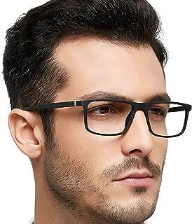 TR90 Men's Eyeglasses Frame Fashion Non Prescription Eyewear Rectangular Lightweight Glasses