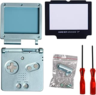 Timorn Full Parts Housing Shell Pack Replacement for GBA SP Gameboy Advance SP (Light Blue Pack)