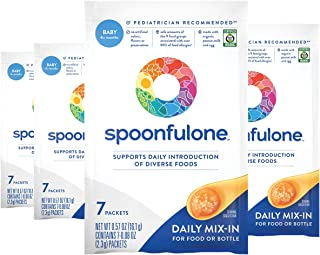 SpoonfulOne Early Allergen Introduction Mix-Ins | Smart Feeding for an Infant or Baby 4+ Months | Certified Organic (28 Pa...