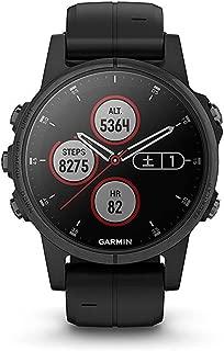 GARMIN(ガーミン) fenix 5s Plus Sapphire Black White 音楽再生機能 マルチスポーツ型GPSウォッチ サファイアレンズ【日本正規品】