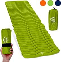 Rugged Camp Air Mat+ Camping Sleeping Pad - Ultralight 17.2 OZ - Best Inflatable Sleeping Air Mattress for Backpacking, Hiking, Traveling – Lightweight & Compact Camp Sleep Pad (Air Mat+)
