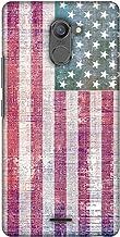 AMZER Slim Designer Snap On Hard Shell Case for Infinix Hot 4 Pro - USA Flag- Wood Texture