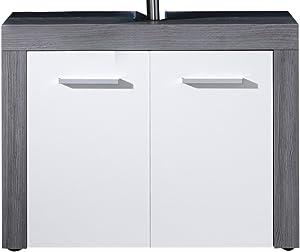trendteam smart living Mobili, Legno, Bianco, 72 x 56 x 34 cm