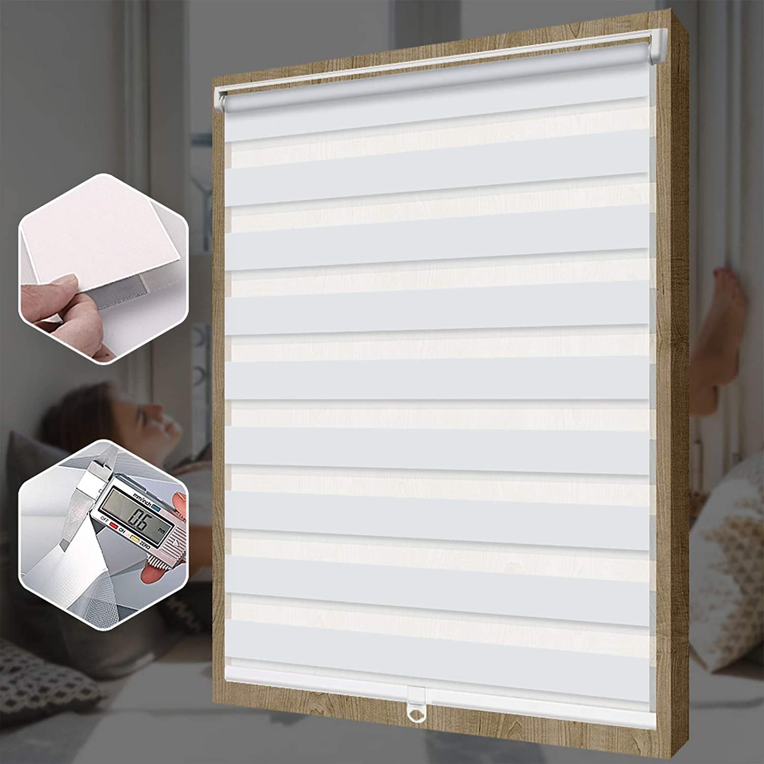 SEEYE Free-Stop Cordless Zebra Roller S Blinds Window Popularity Complete Free Shipping Horizontal