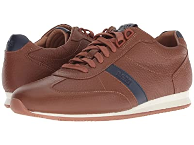 BOSS Hugo Boss Orland Retro Leather Sneaker (Medium Brown) Men