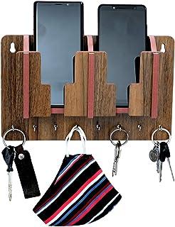 pranali enterprise Multi Utility Mobile Charging Stand Key Holder, Cloth Hangershelf for Napkin Watch Wallet Suitable for ...