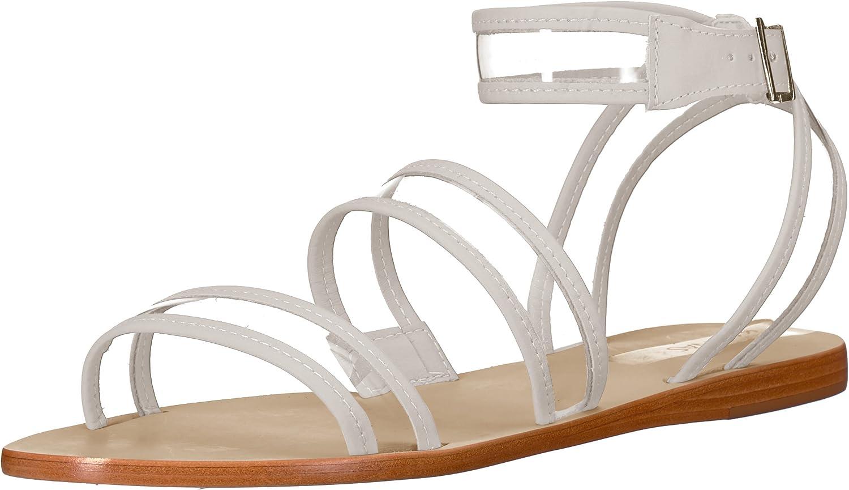 KAANAS Damen See-Through Strappy Flat Olinda Durchsichtig Flache Sandalen mit Riemen