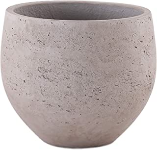 Little Green House Round Cement Pot