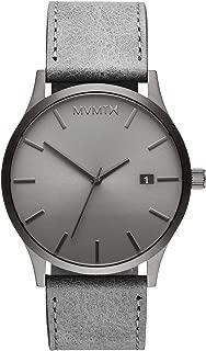 Classic Watches | 45 MM Men's Analog Minimalist Watch | Leather Wristband (Monochrome)