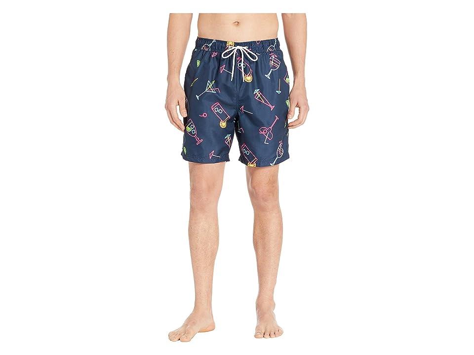 U.S. Surf Club Neon Cocktails Swim Shorts (Classic Navy) Men