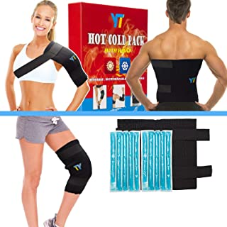 YT Reusable Gel Ice Pack & Wrap,Large Hot Cold Therapy for Hip,Shoulder,Back,Knee,Pain Relief for Injuries Swelling Aches Bruises Sprains 14