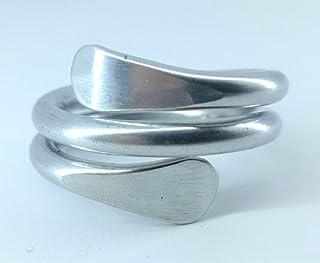 MEDUSA.anello in alluminio.Anello in alluminio fatto a mano, anallergico,inossidabile