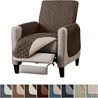 Home Fashion Designs Reversible Recliner Chair Cover. Furniture Covers for Living Room with Secure Straps. Furniture Protectors for Kids, Dogs and Pets. (26