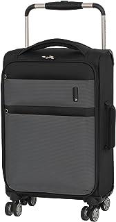 """it luggage World's Lightest Debonair 22.5"""" 8 Wheel Spinner, Black/White (Black) - 22-2058-08"""