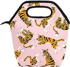 Przenośny pojemnik na lunch o dużej pojemności, pakiet do pracy, szkoły, na piknik, bezszwowy wzór firmy Tiger