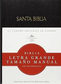 RVR 1960 Biblia Letra Grande Tamaño Manual, negro imitación piel (Spanish Edition)