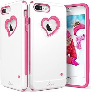 Vena iPhone 8 Plus Case, iPhone 7 Plus Case, [vLove][Heart-Shape | Dual Layer Protection] Hybrid Bumper Cover for Apple iPhone 8 Plus, iPhone 7 Plus (5.5