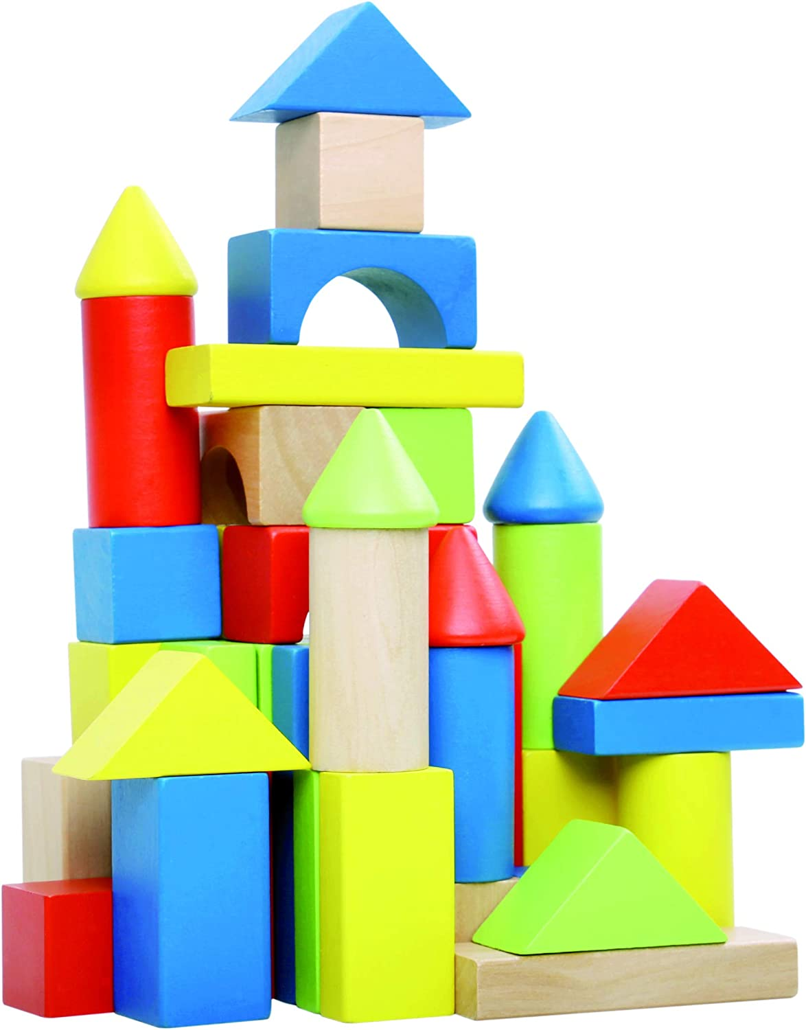 Tooky Toy  Wooden Wooden Block 50pcs