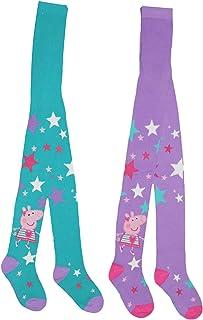 Peppa Pig - Medias de algodón para niñas (2 unidades)