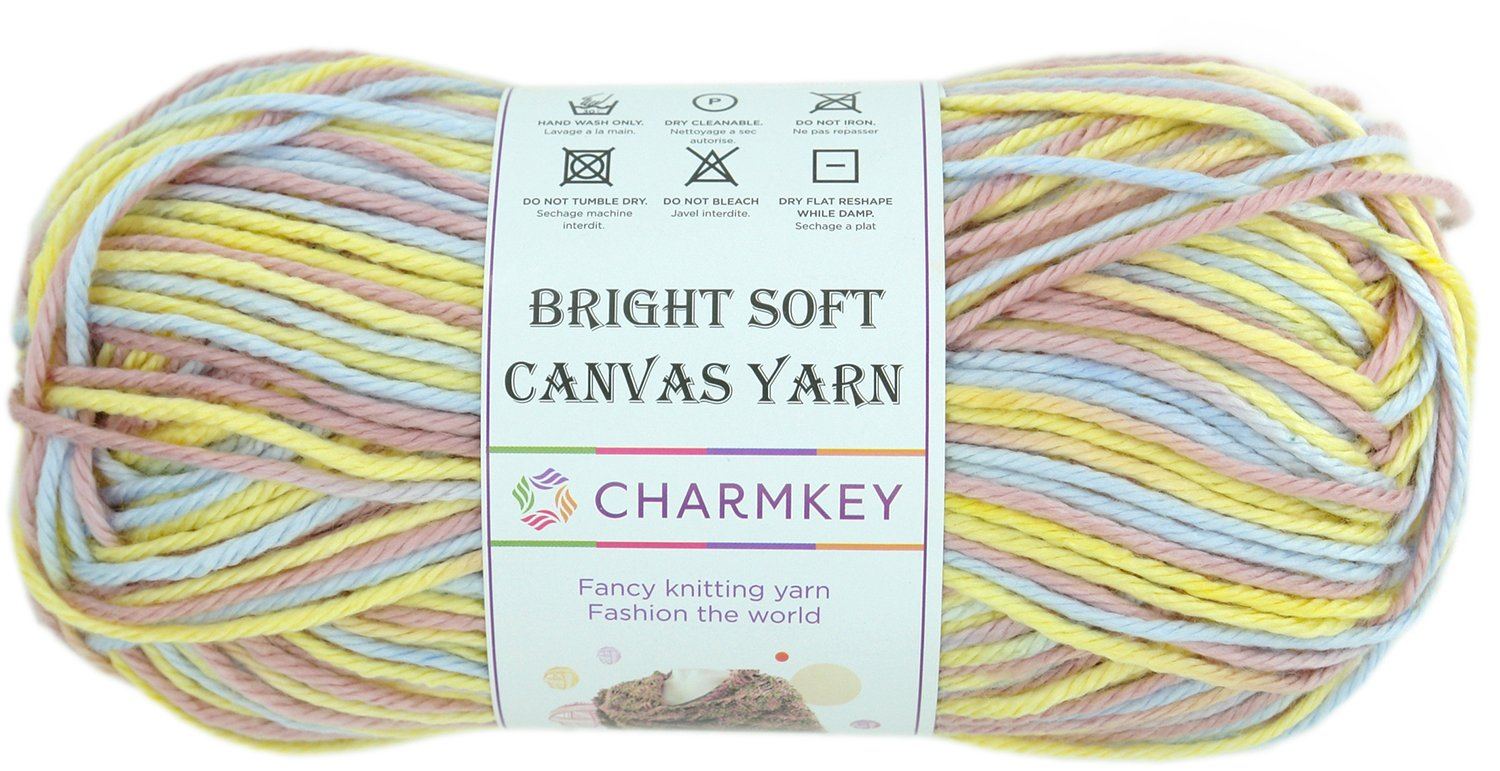 dishcloths or Baby Blanket. Boho Brights Collection 100/% Soft Cotton in a Set of 10 Vibrant Colors Great Starter kit for Crafts Bulk Bundle Studio SAM Cotton Yarn for Knitting and Crochet