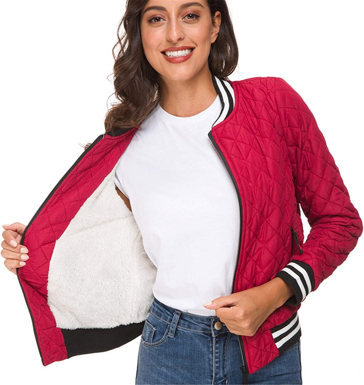 Long Beach Mall CNBPLS Women's Solid Lamb Cashmere Cropped Sl Oklahoma City Mall Bomber Jacket