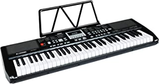 $69 » LAGRIMA LAG-730 61 Key Portable Electric Keyboard Piano with Built In Speakers, LED Screen, Microphone, Dual Power Supply,...