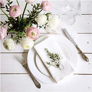 Serviette De Table Tissu 12 pcs serviettes blanches Tableau de serviette de table de serviettes de table de table pour la ...